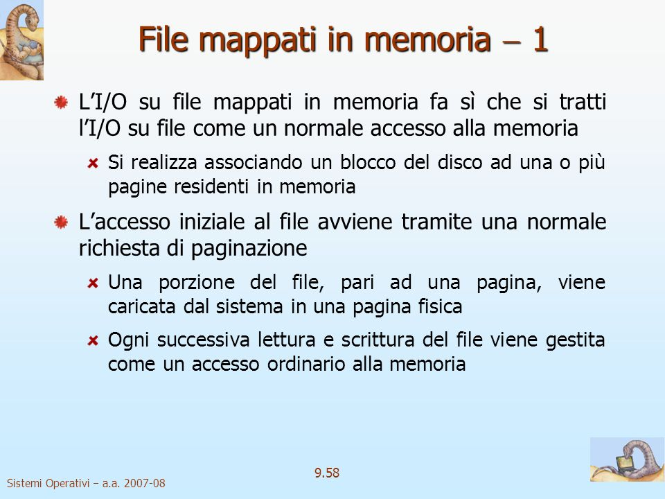 File mappati in memoria  1