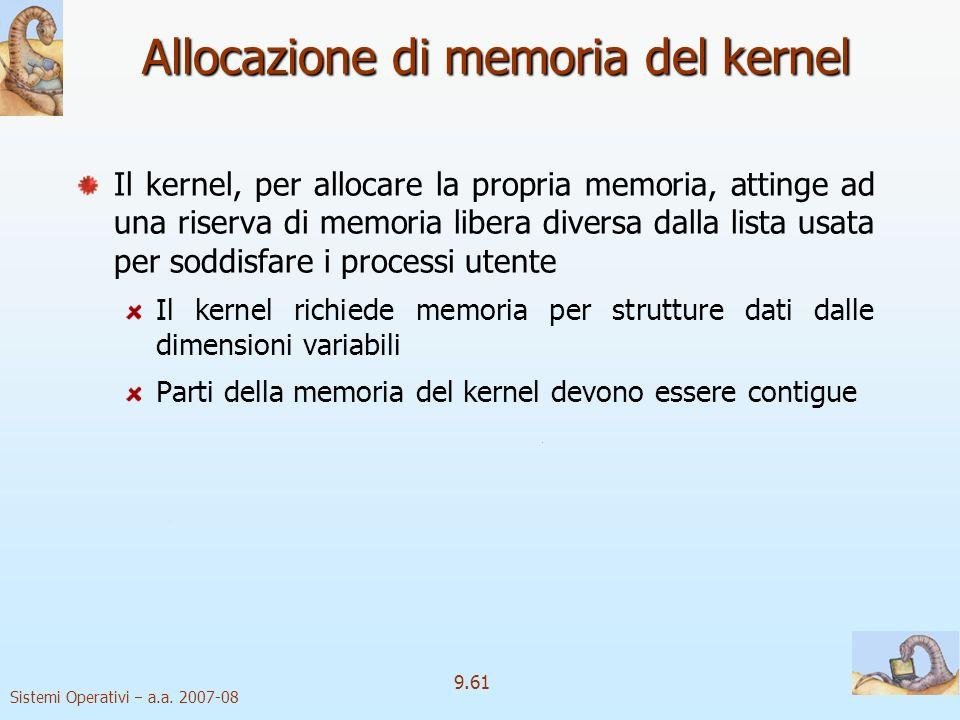 Allocazione di memoria del kernel