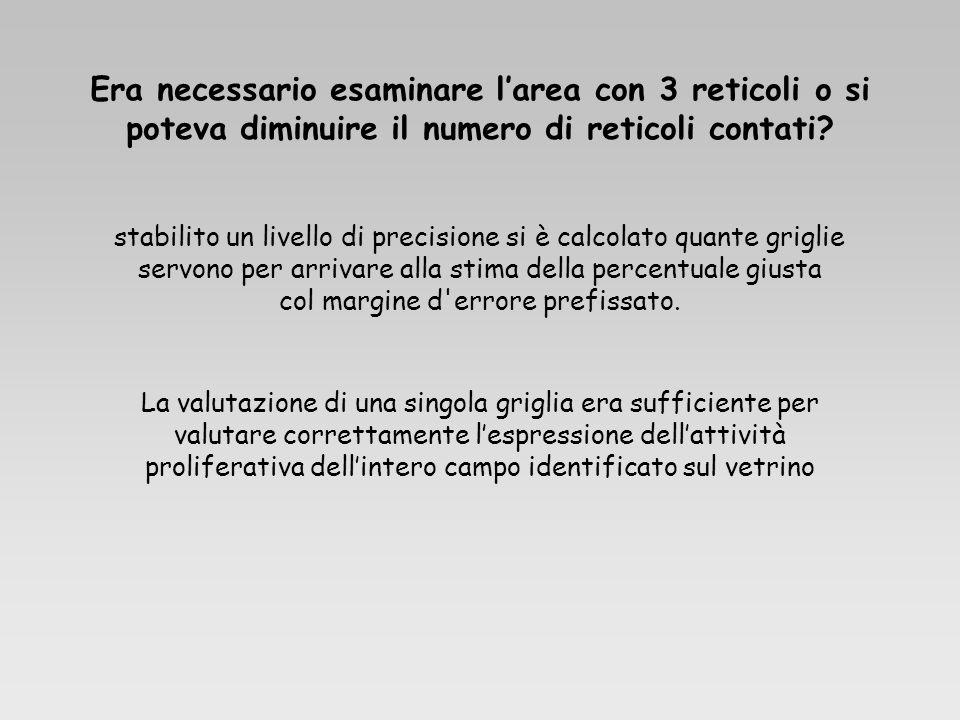 Era necessario esaminare l'area con 3 reticoli o si poteva diminuire il numero di reticoli contati