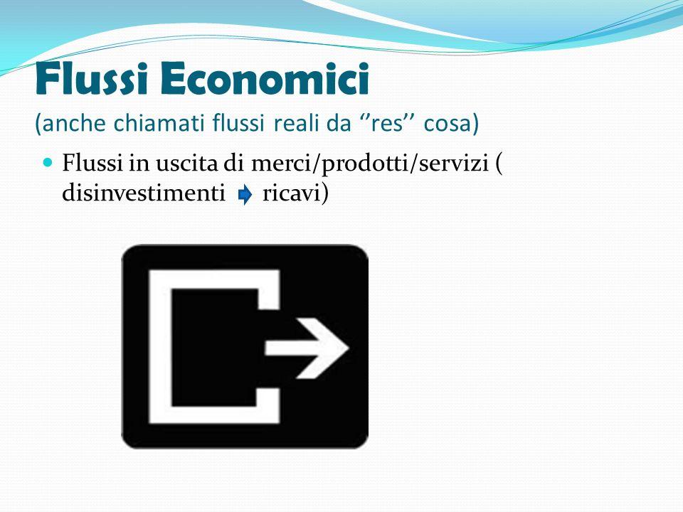 Flussi Economici (anche chiamati flussi reali da ''res'' cosa)