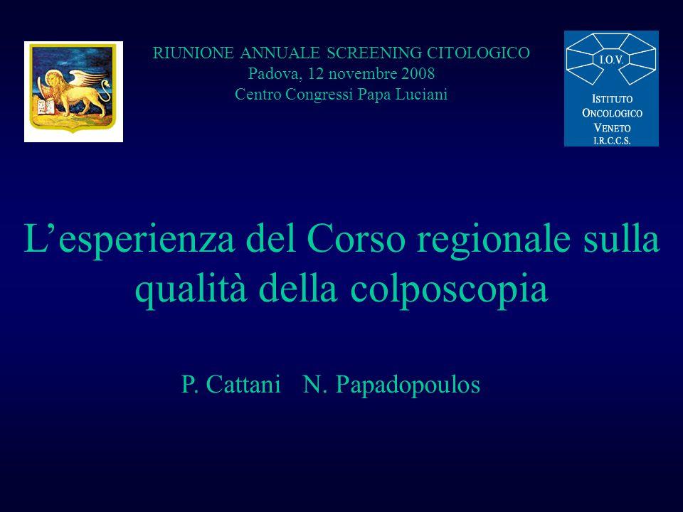 L'esperienza del Corso regionale sulla qualità della colposcopia