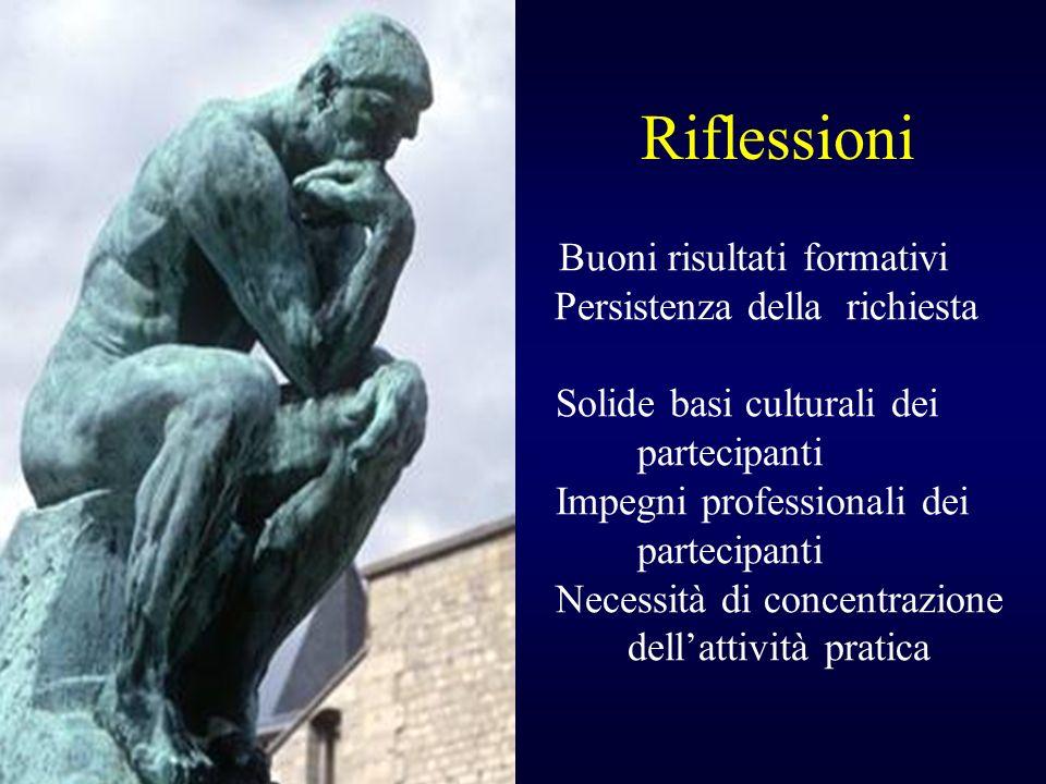 Riflessioni Solide basi culturali dei partecipanti