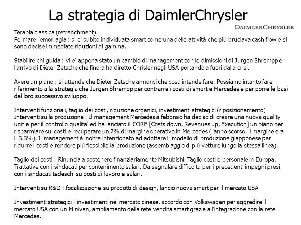 La strategia di DaimlerChrysler
