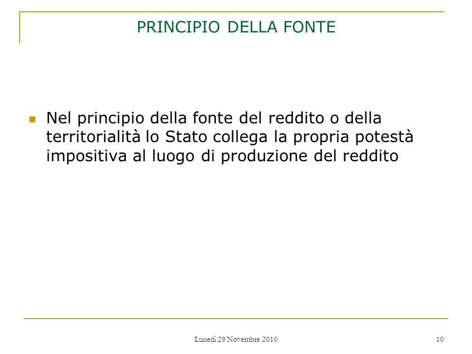 PRINCIPIO DELLA FONTE