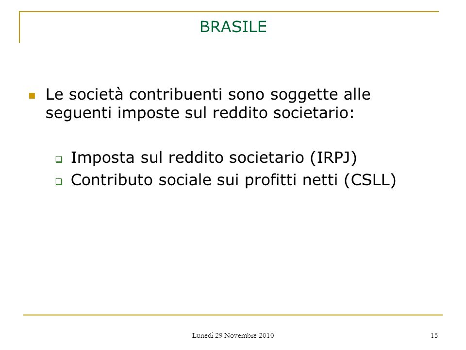 Imposta sul reddito societario (IRPJ)