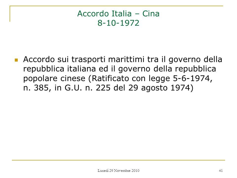 Accordo Italia – Cina 8-10-1972