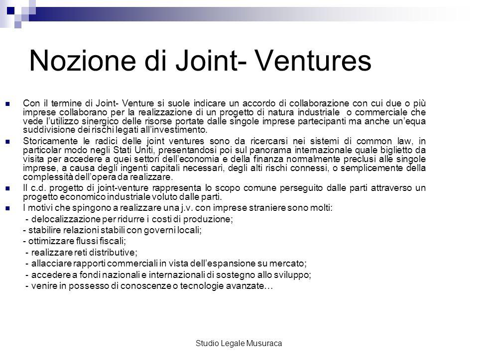 Nozione di Joint- Ventures