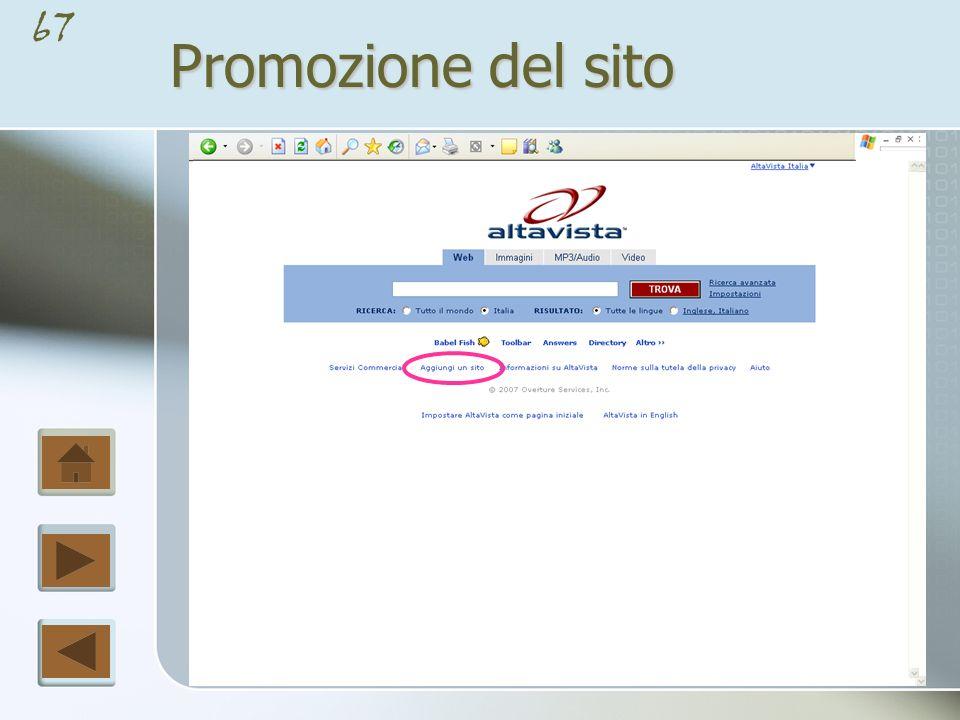 Promozione del sito