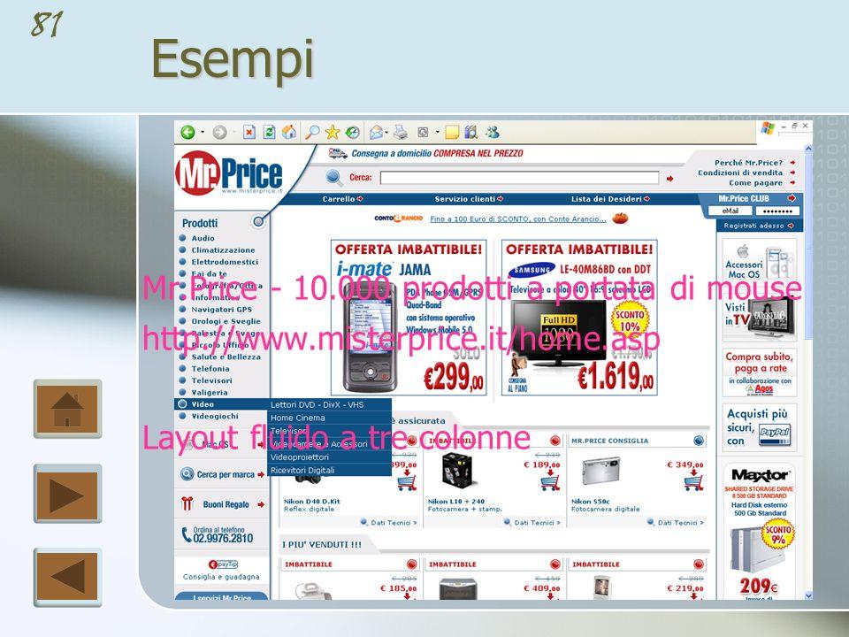 Esempi Mr.Price - 10.000 prodotti a portata di mouse
