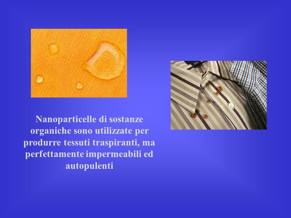 Nanoparticelle di sostanze organiche sono utilizzate per produrre tessuti traspiranti, ma perfettamente impermeabili ed autopulenti