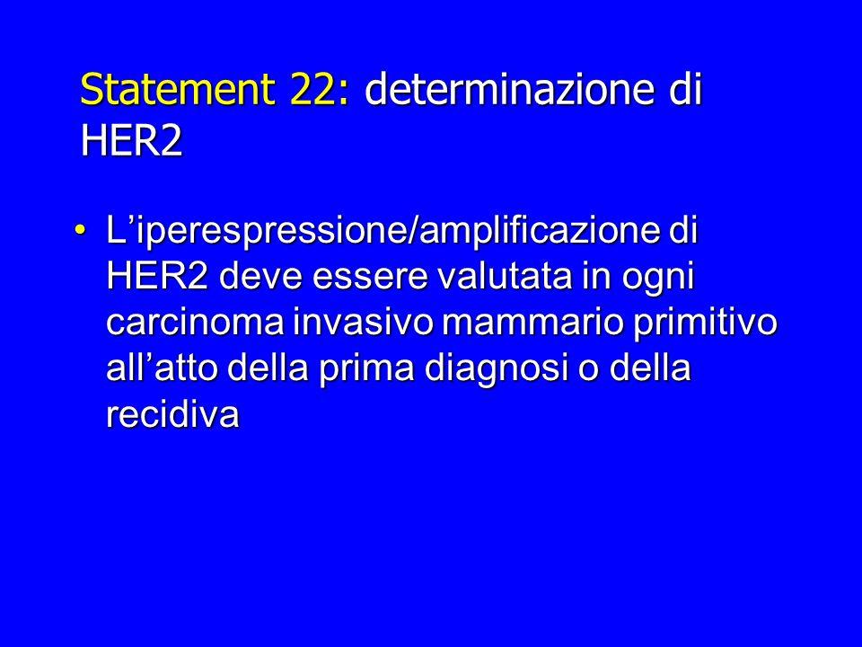 Statement 22: determinazione di HER2