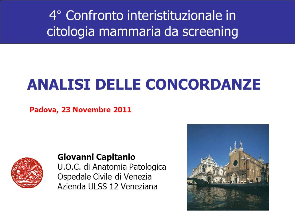4° Confronto interistituzionale in citologia mammaria da screening