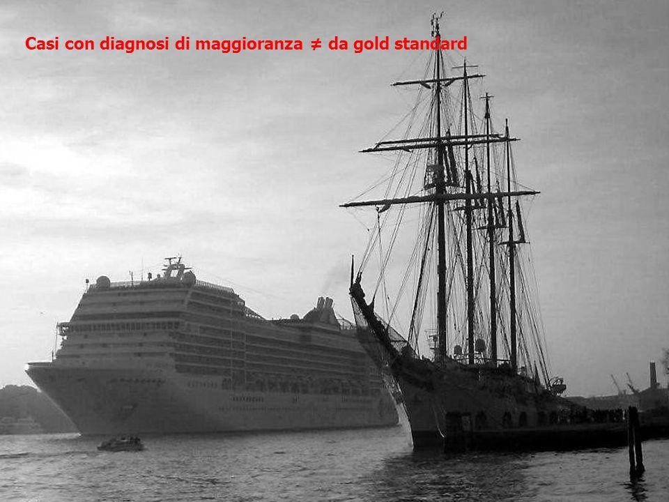 Casi con diagnosi di maggioranza ≠ da gold standard