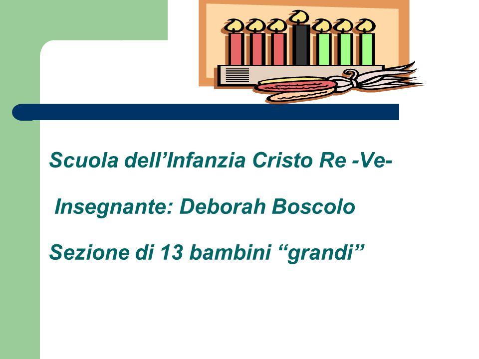 Scuola dell'Infanzia Cristo Re -Ve- Insegnante: Deborah Boscolo Sezione di 13 bambini grandi