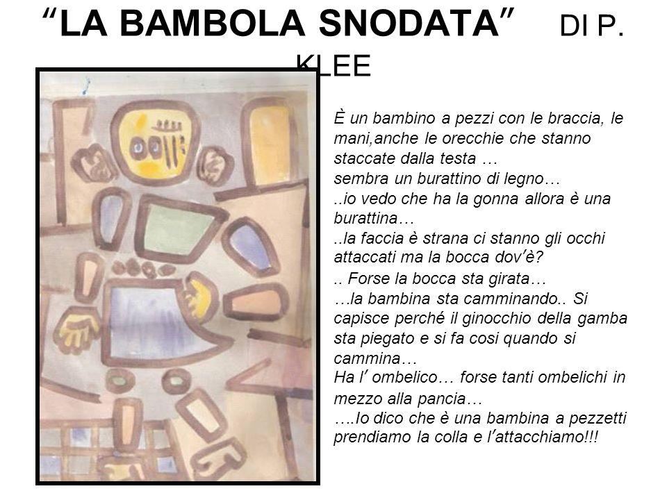 LA BAMBOLA SNODATA DI P. KLEE