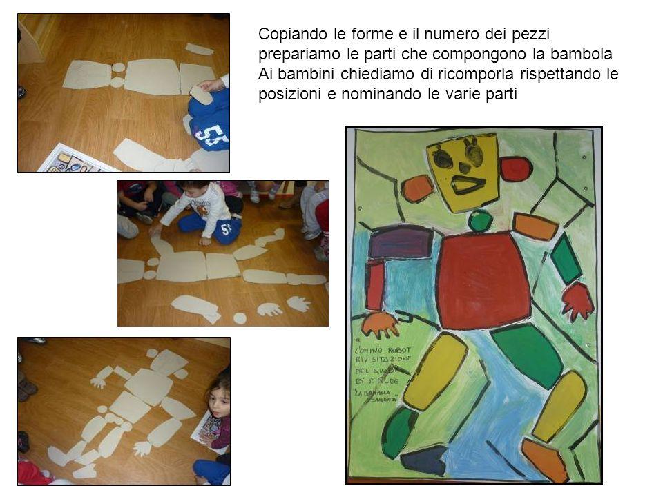 Copiando le forme e il numero dei pezzi