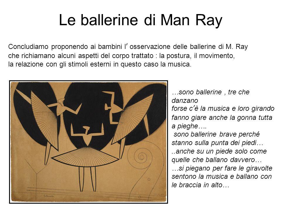 Le ballerine di Man Ray Concludiamo proponendo ai bambini l' osservazione delle ballerine di M. Ray.