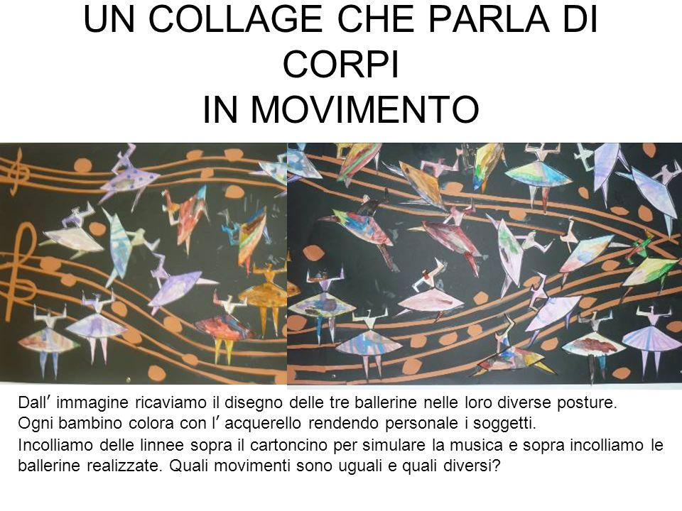 UN COLLAGE CHE PARLA DI CORPI IN MOVIMENTO