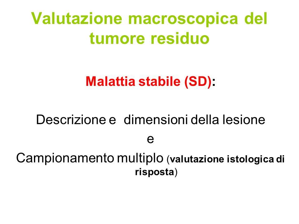 Valutazione macroscopica del tumore residuo