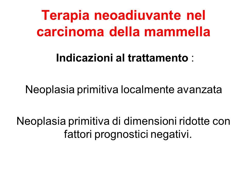 Terapia neoadiuvante nel carcinoma della mammella