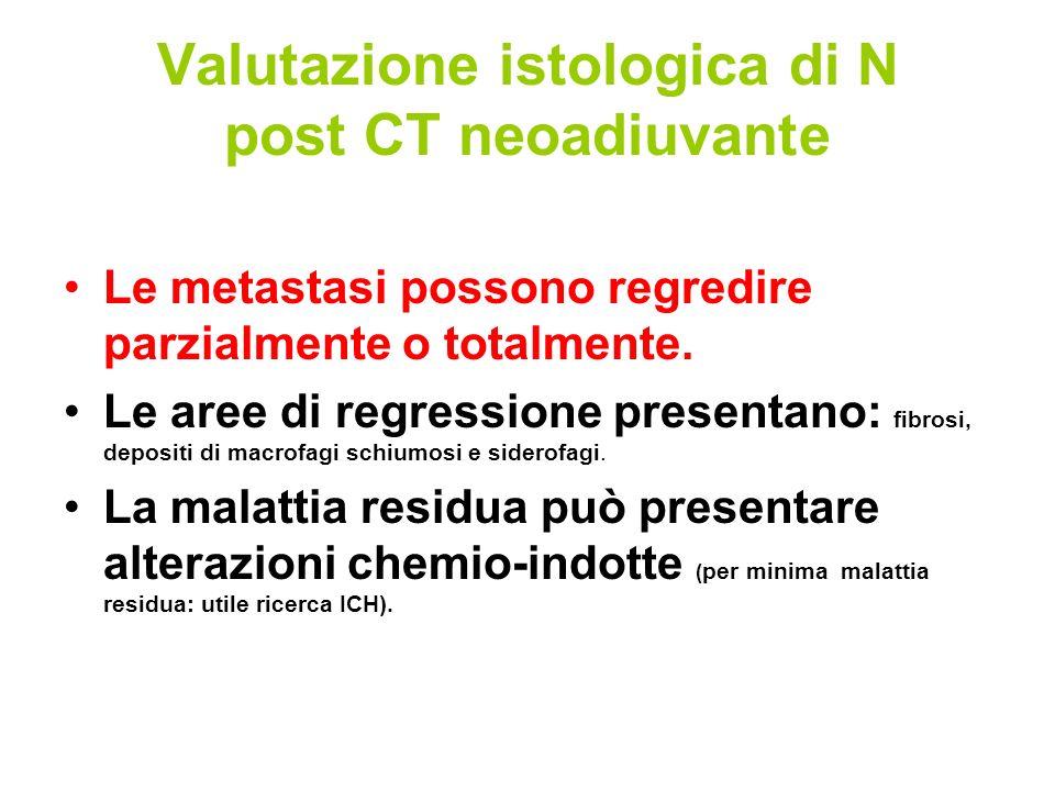 Valutazione istologica di N post CT neoadiuvante
