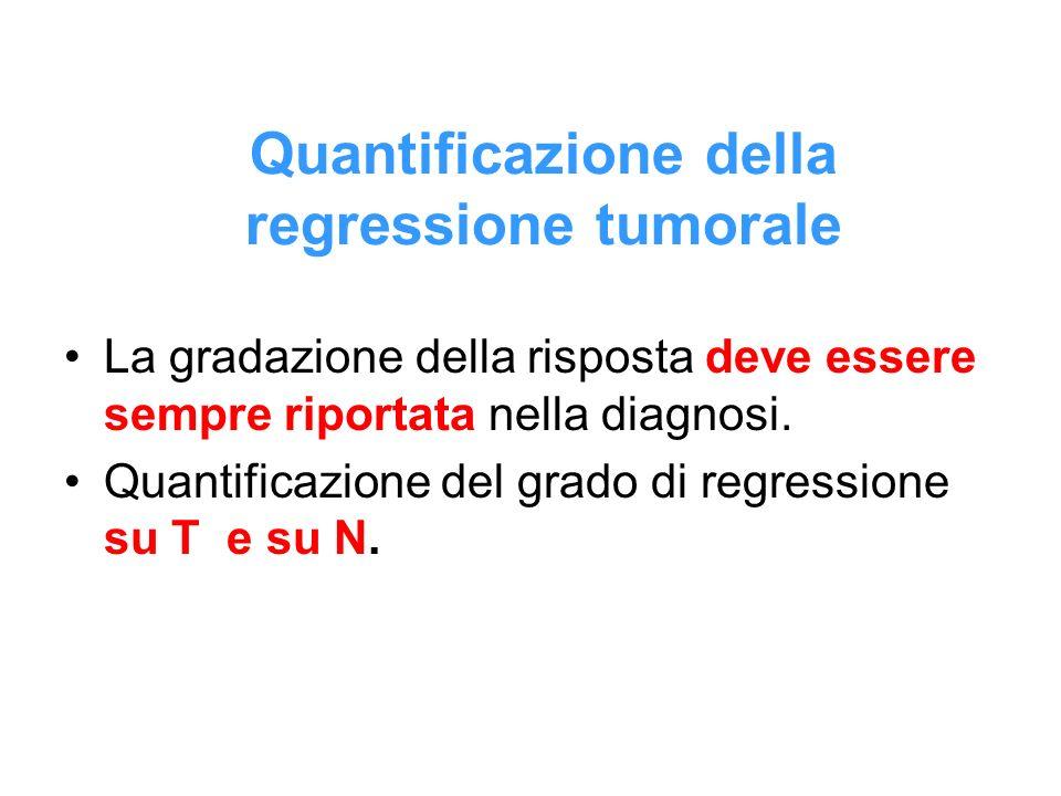 Quantificazione della regressione tumorale