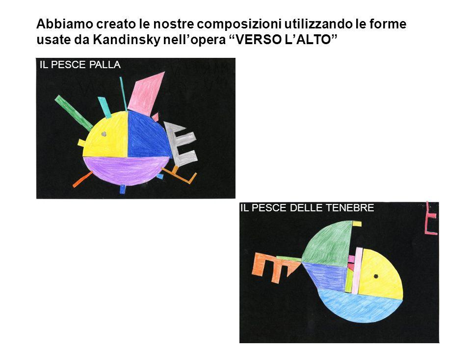 Abbiamo creato le nostre composizioni utilizzando le forme usate da Kandinsky nell'opera VERSO L'ALTO