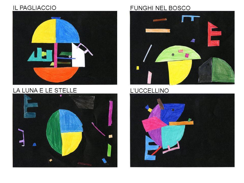 IL PAGLIACCIO FUNGHI NEL BOSCO LA LUNA E LE STELLE L'UCCELLINO