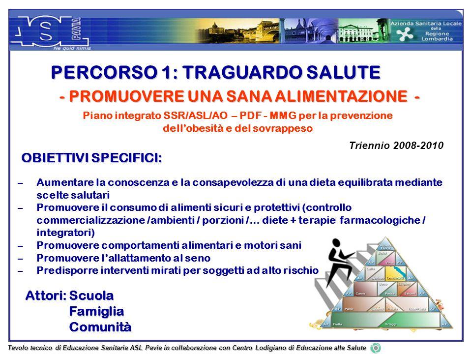 PERCORSO 1: TRAGUARDO SALUTE