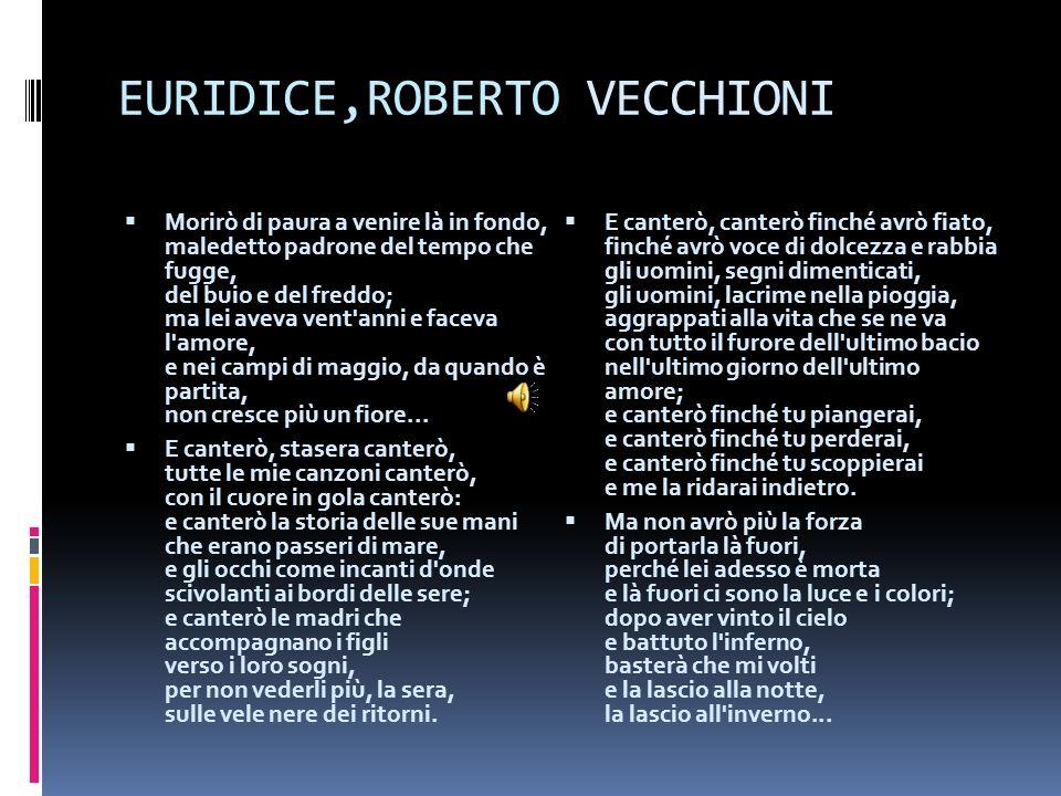 EURIDICE,ROBERTO VECCHIONI