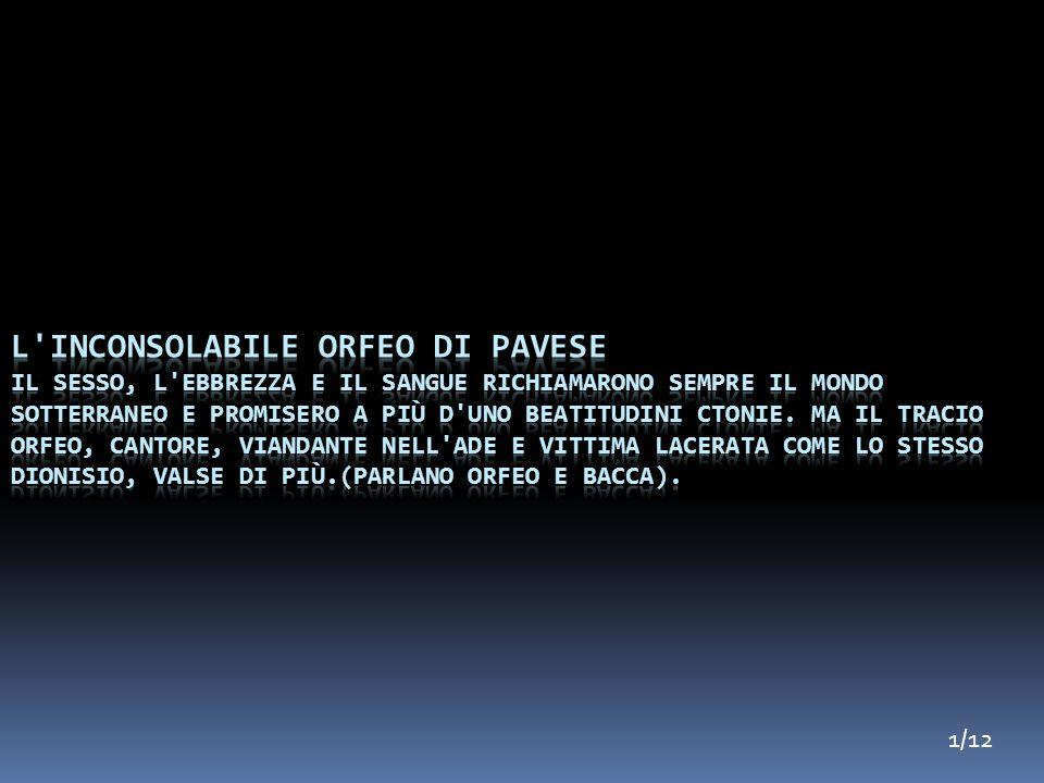 L inconsolabile Orfeo di Pavese