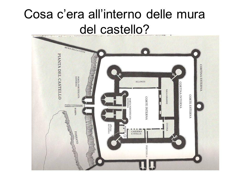Cosa c'era all'interno delle mura del castello