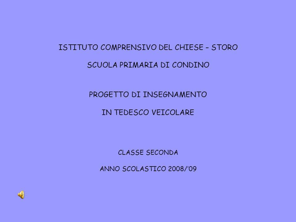 ISTITUTO COMPRENSIVO DEL CHIESE – STORO SCUOLA PRIMARIA DI CONDINO