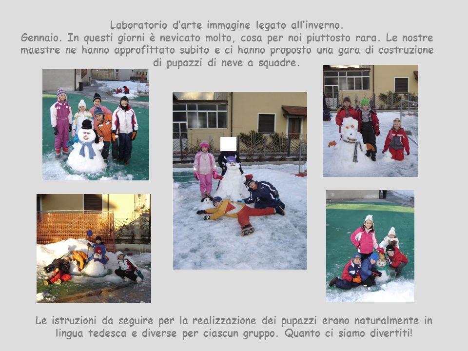 Laboratorio d'arte immagine legato all'inverno. Gennaio