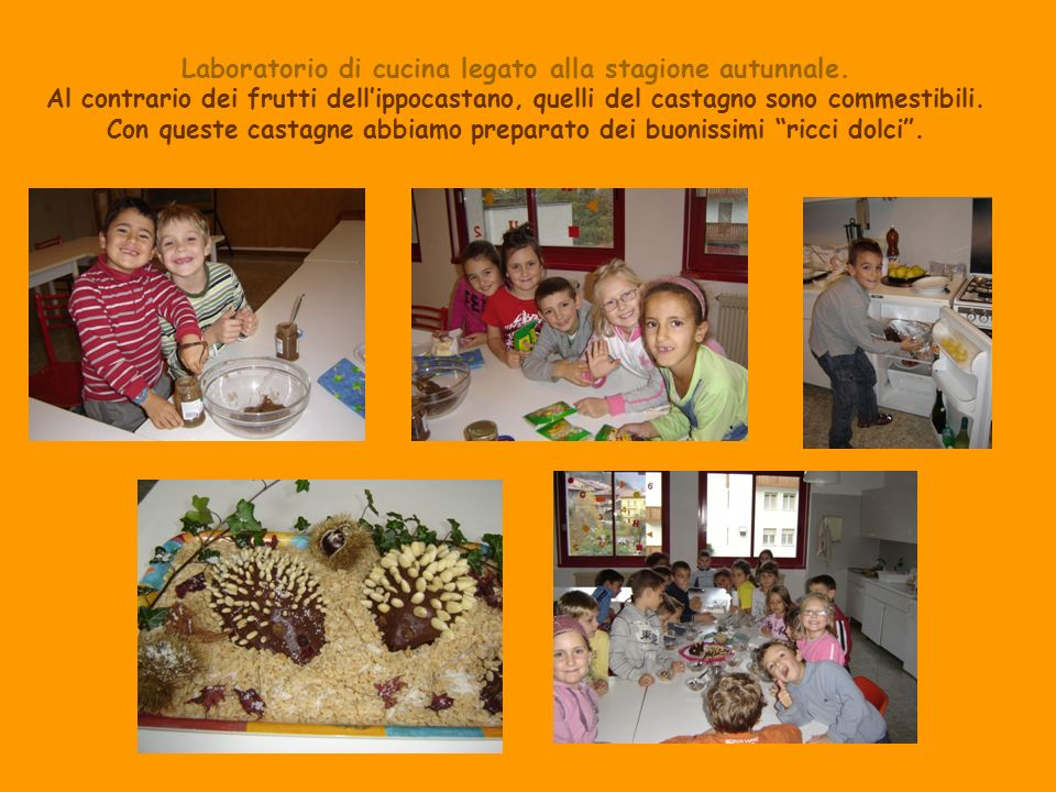 Laboratorio di cucina legato alla stagione autunnale