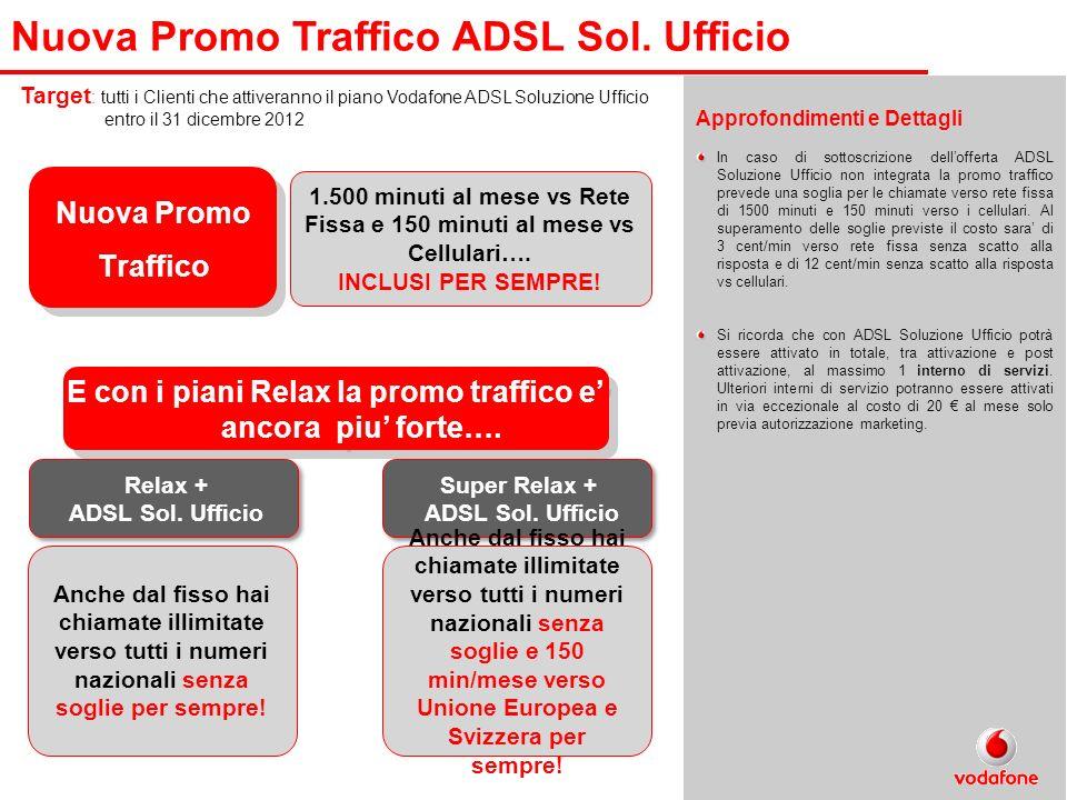 Nuova Promo Traffico ADSL Sol. Ufficio