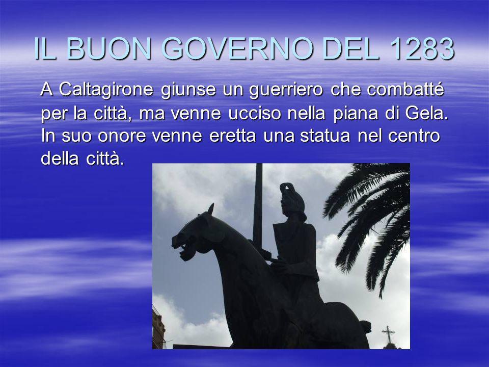 IL BUON GOVERNO DEL 1283