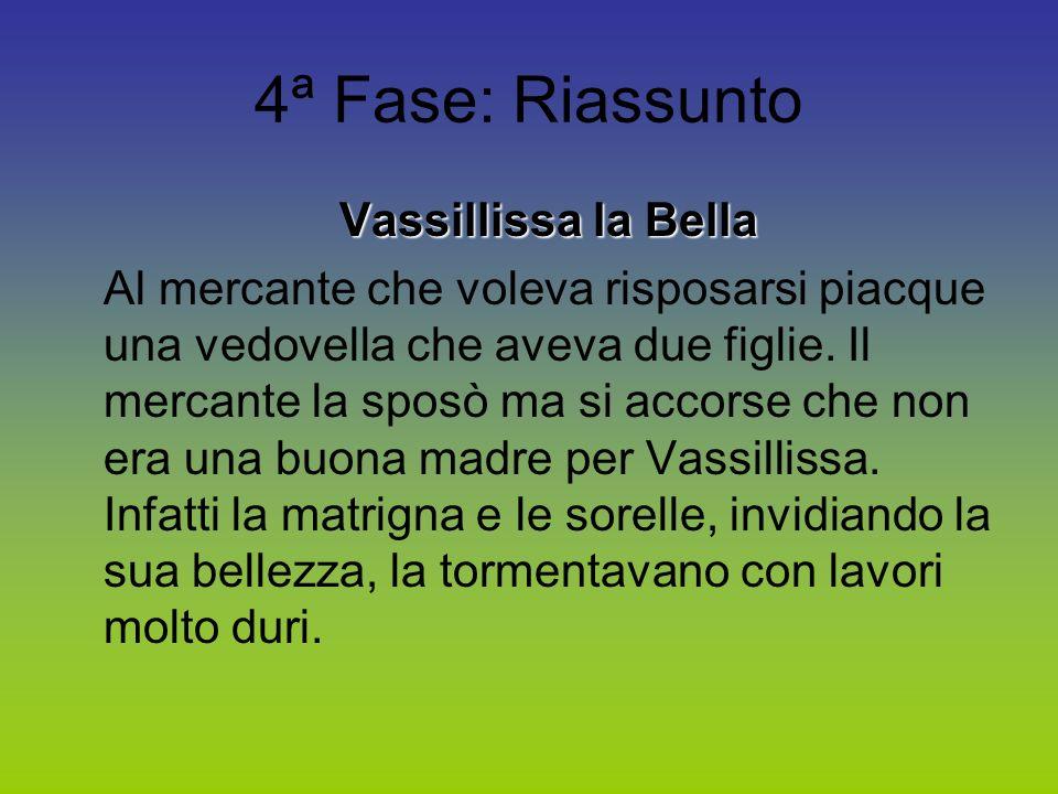 4ª Fase: Riassunto Vassillissa la Bella