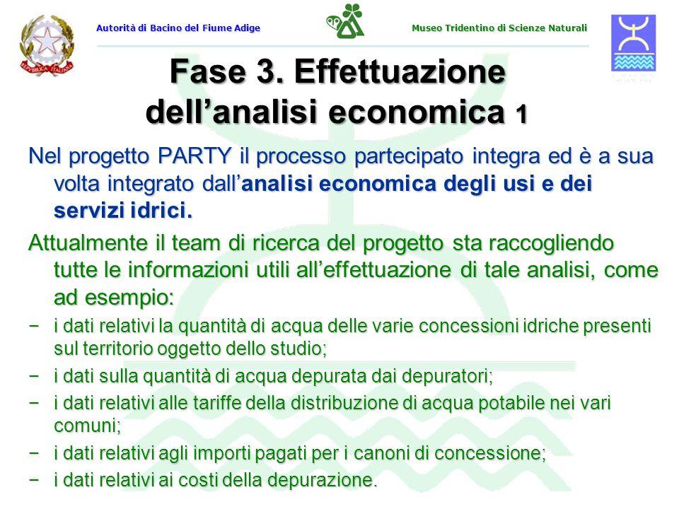 Fase 3. Effettuazione dell'analisi economica 1