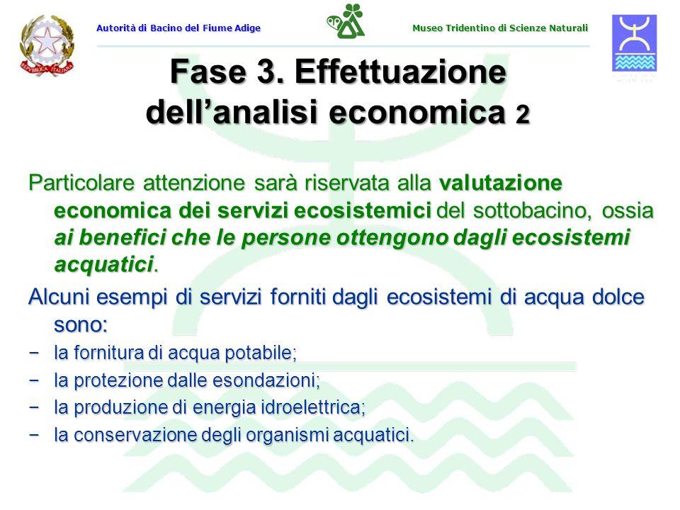 Fase 3. Effettuazione dell'analisi economica 2