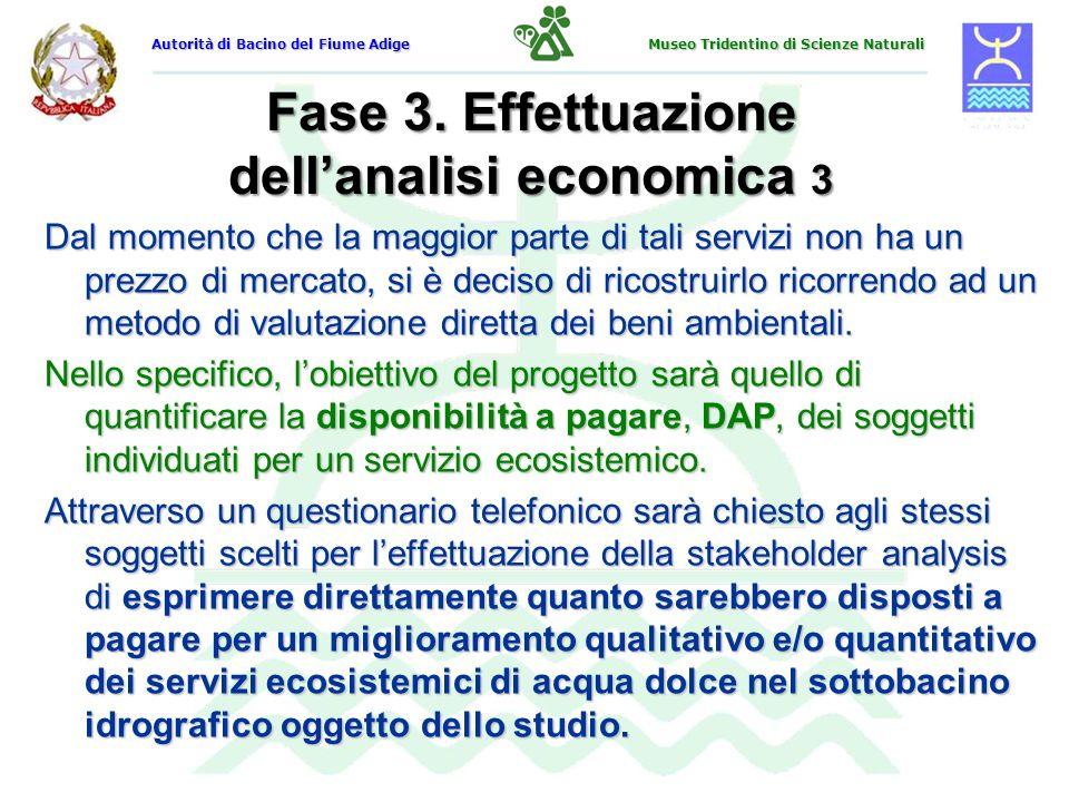 Fase 3. Effettuazione dell'analisi economica 3