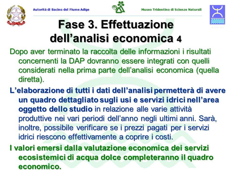 Fase 3. Effettuazione dell'analisi economica 4