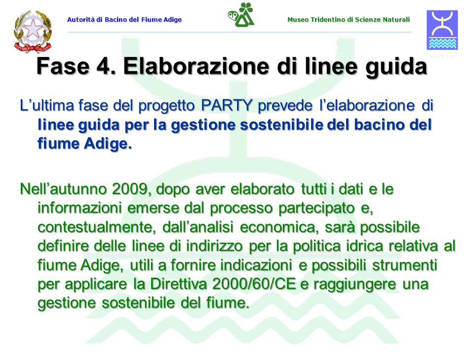 Fase 4. Elaborazione di linee guida