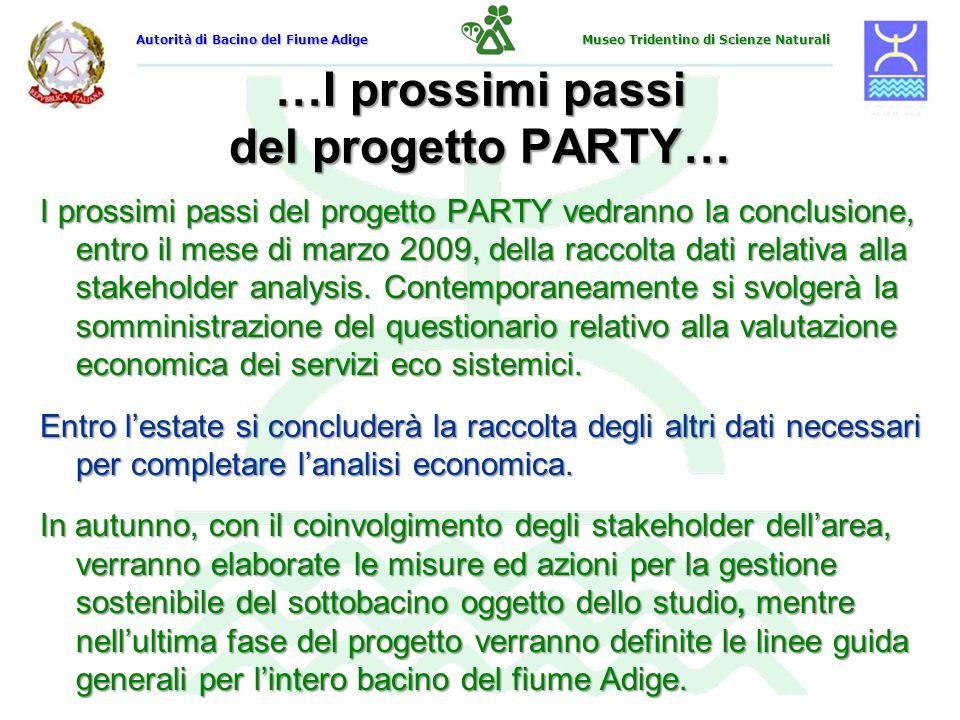 …I prossimi passi del progetto PARTY…