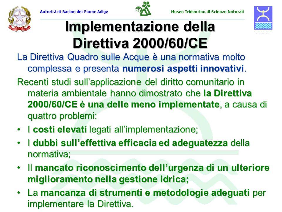 Implementazione della Direttiva 2000/60/CE