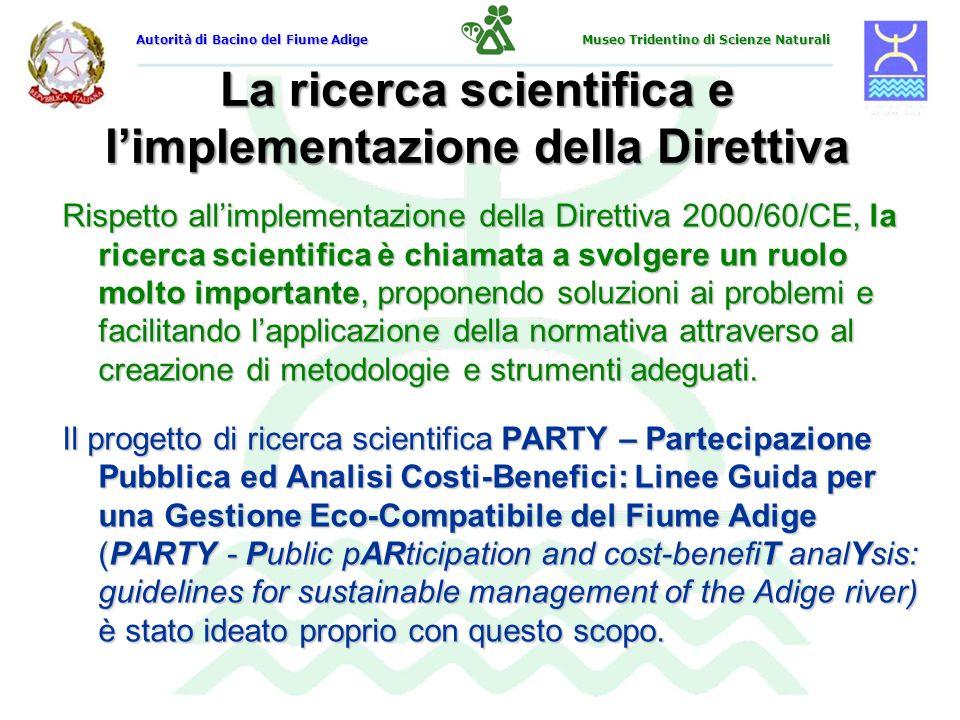 La ricerca scientifica e l'implementazione della Direttiva