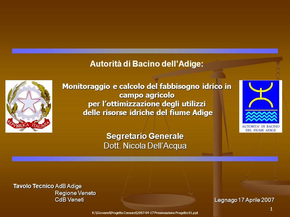 Autorità di Bacino dell'Adige: Segretario Generale