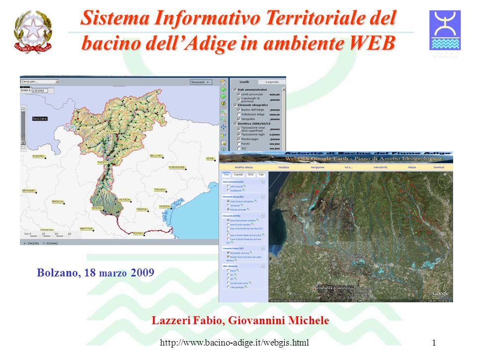 Sistema Informativo Territoriale del bacino dell'Adige in ambiente WEB