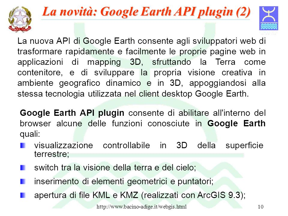 La novità: Google Earth API plugin (2)
