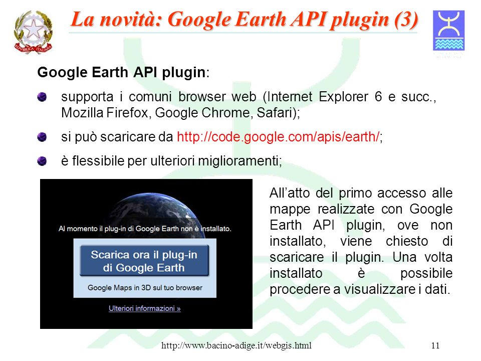 La novità: Google Earth API plugin (3)